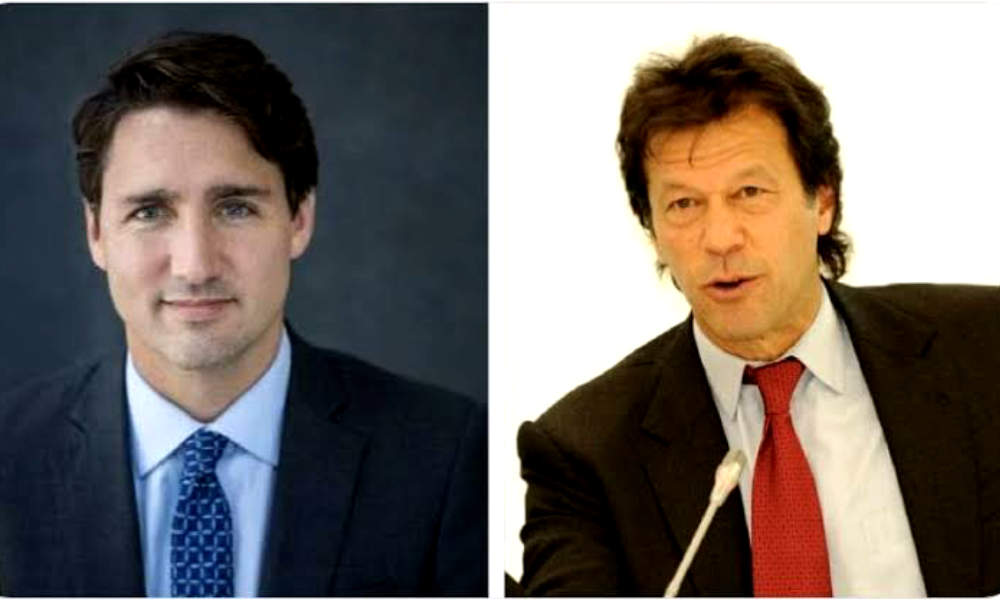 Imran Khan told Justin Trudeau about the plight of Kashmiris in Corona