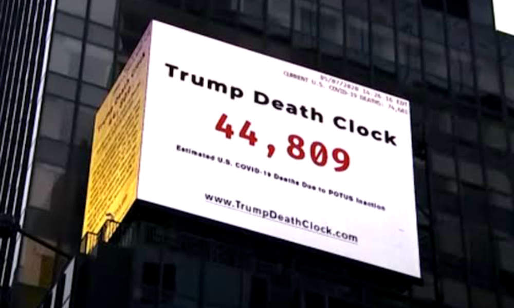 Trump's 'Death Clock' is Launched in New York!